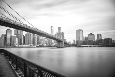 Brooklyn Bridge and Manhattan Skyline from DUMBO