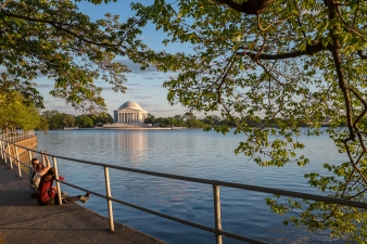 Golden Hour at Jefferson Memorial Tidal Basin