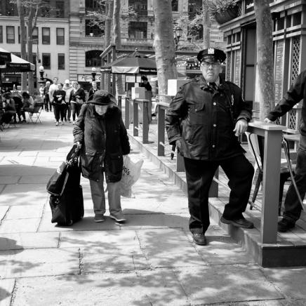 NYC Bryant Park street scene