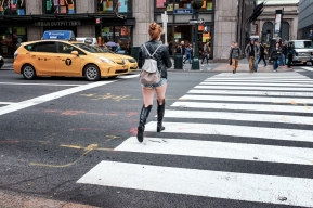 NYC women in very short shorts