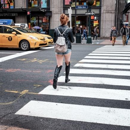NYC women in very short shorts