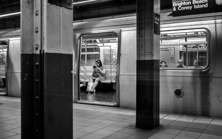 NYC subway passenger
