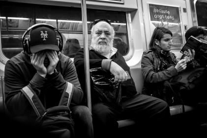 NYC subway passengers