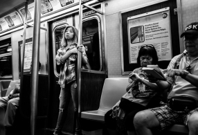 Passengers NYC subway