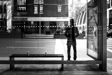 Silhouette NYC Man Hotel Giraffe