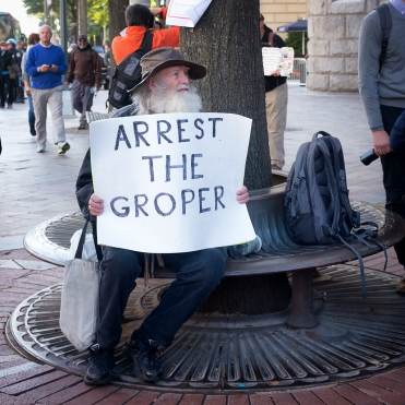 Arrest the Groper Trump Protestor