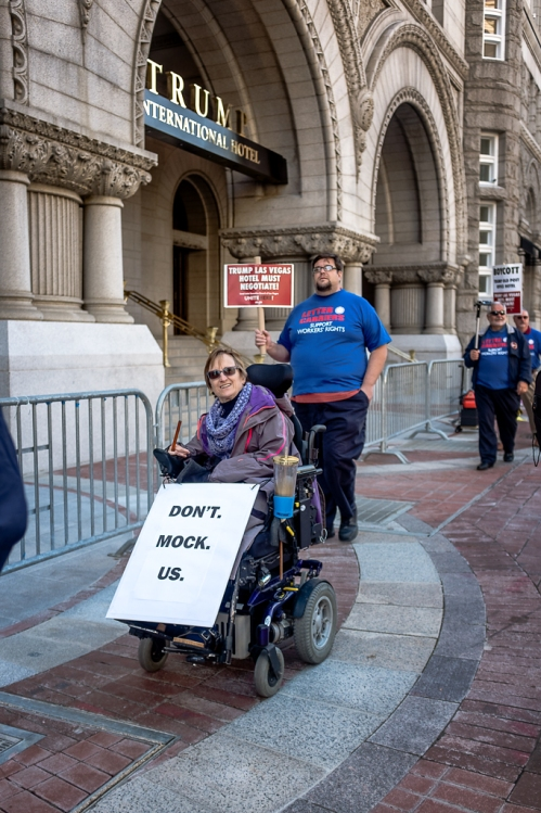 Wheelchair Don't Mock Trump Protestor