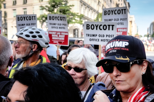Trump 2016 Supporter at Trump Hotel boycott