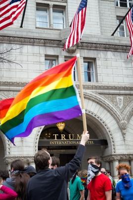 Pride Flag Trump Hotel DC