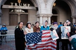 Muslim Protestors No Ban No Wall Trump Hotel DC