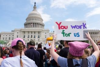 DC Tax March Protestors US Capitol